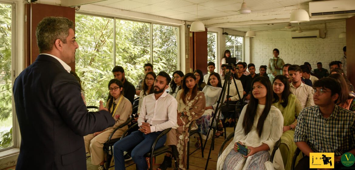 A Conversation with Youth | Kanbar Hossein Bor, Acting British High Commissioner to Bangladesh - A group of people posing for the camera - Conversation